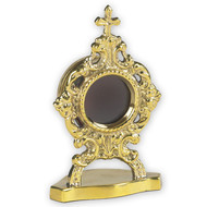 """Small Personal Reliquary, Brass -- 2"""" w x 3-1/2"""""""