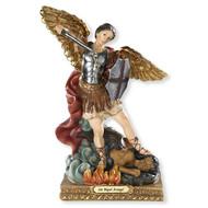 "Michael Archangel Spanish Statue Figurine 8"""