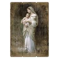 "Bouguereau Innocence, The Virgin Mary Holding  Baby Jesus  & a Little Lamb, 27"""