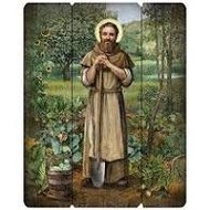 "Saint Fiacre 15"" Wall Plaque"