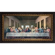 "Wooden Picture Frame, Last Supper, 19""x35"""