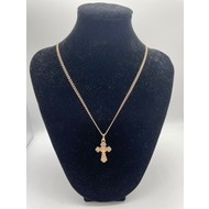 Fancy Crucifix Rose Gold on Chain