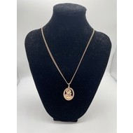 Our Lady of Perpetual Help Oval Rose Gold on Chain