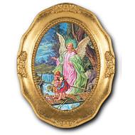 Guardian Angel gold leaf frame