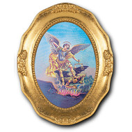 SAINT MICHAEL GOLD LEAF FRAME