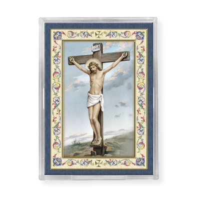 CRUCIFIXION ACRYLIC EASEL WITH MAGNET