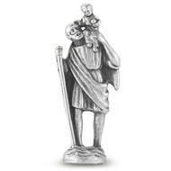 "St. Christopher Pocket  Saint Statue  1 3/4"""