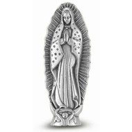 Our Lady of Guadalupe Pocket  Saint Statue  1 3/4""