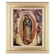 "OUR LADY OF GUADALUPE SATIN GOLD FRAME11-1/2"" X 13-1/2"""