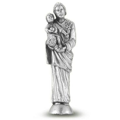 "St. Joseph Pocket  Saint Statue  1 3/4"""