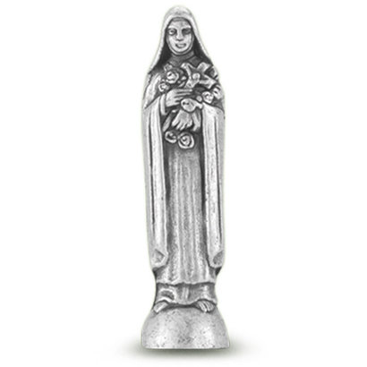 """St. Therese Pocket Statue Saint Statue  1 3/4"""""""