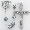 """Genuine Blue Fresh Water Hand Crafted  Pearl 6mm Bead Rosary, 21.5"""""""