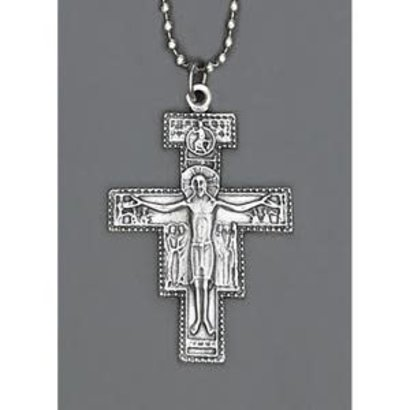 """Auto Jewelry 1 1/4"""" Inch San Damiano w/ Ball Chain- Made in Italy"""