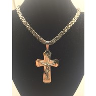 """Stainless Steel Crucifix 26"""" Chain"""