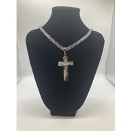 "Stainless Steel Crucifix 26"" Chain"