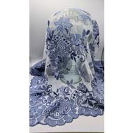 CORNFLOWER BLUE SPANISH MANTILLA