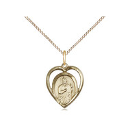 St. Jude Heart on 18 inch Lobster Claw GF Chain