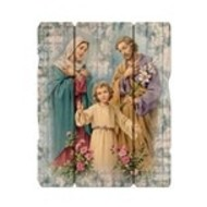 "Holy Family 7 1/2X9"" Vintage Plaque With Hanger"