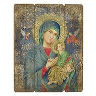 "Our Lady of Perpetual Help, 15"" Plaque"