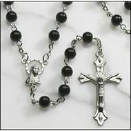 Auto Rosary 6 mm Black Wood Bead