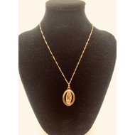 Our Lady of Guadalupe, Rose Gold Plated Necklace