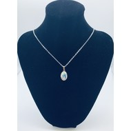 Our Lady of Grace Full Color Necklace with silver finish