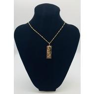 Holy Family Modern Elegant Rose Gold Pendant