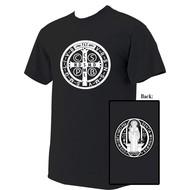 St. Benedict Medal Cotton T-Shirt Size X-Large