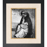 St. Dominic, Double-Matted in Cream Over Gold Under Premium Clear Glass, Black Solid Wood Frame, 17 1/2x21 1/2