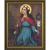 St. Philomena, Fine Art Print Under Premium Clear Glass, 13 X 16 Gold Frame