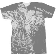 St. Michael Defend Us, Graphic Polyester T-Shirt XL