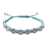 St. Benedict Baby Blue Slip Knot Bracelet