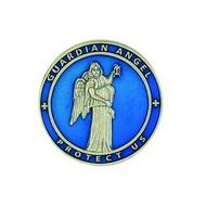 Guardian Angel Blue Enamel Visor Clip