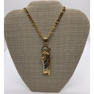 St. Jude EX-Large Necklace, Stainless Steel Gold Plate