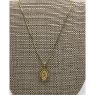 O. L of Guadalupe Gold Plated Necklace
