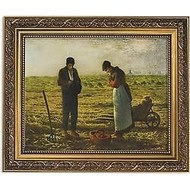 Millet the Angelus Framed Print 13""