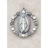 Blue Sterling Silver Miraculous Medal