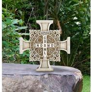 Saint Benedict Garden Cross Statue