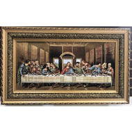 """Wooden Picture Frame, Last Supper, 24""""x40"""""""