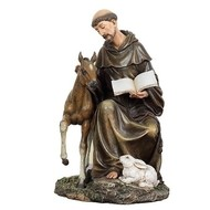 """ST FRANCIS W/HORSE 8.5""""H"""