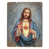 "Sacred Heart, 15"" Plaque"