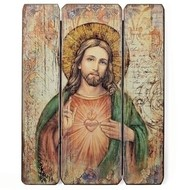 "Sacred Heart Plaque , 15"""