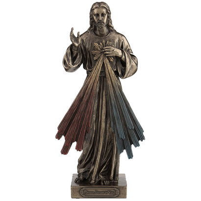 """Divine Mercy , Veronese Lightly HP-D Cold Cast bronze, 8"""", Veronese Lightly HP-D Cold Cast Bronze, 8"""""""