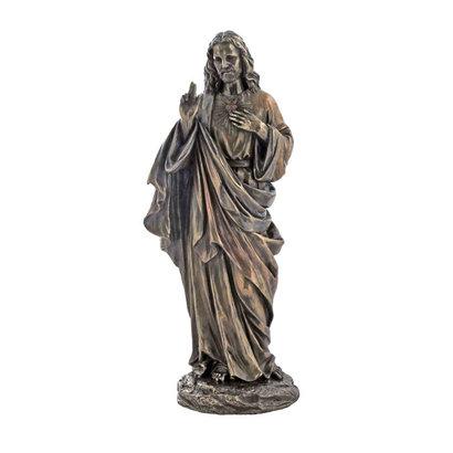 "Sacred Heart of Jesus Lightly HP-D Cold-Cast Bronze, 10"""