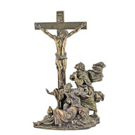 "Crucifixion , 11"", Cold Cast Bronze"