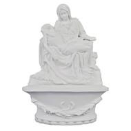 "Pieta Font white 8"" Stands/Hangs"