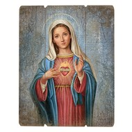 """Immaculate Heart 15"""" Plaque"""