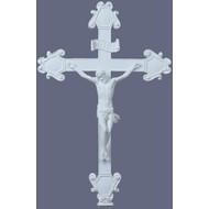 """Crucifix in white Finish, 16"""""""
