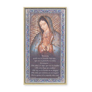 """Our lady of Guadalupe plaque, 5"""" x 9"""",  Spanish"""