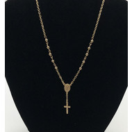 Rosary Necklace, 14K Gold Filled, 18""